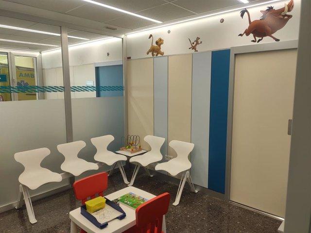 Nueva sala de espera pediátrica en las Urgencias del Hospital de Teruel.