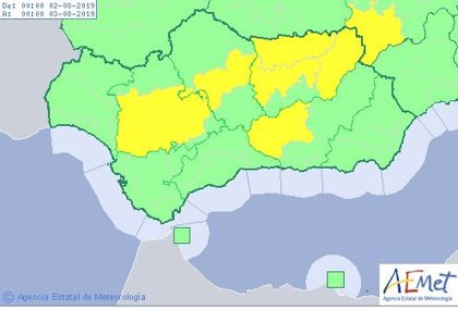 Aviso amarillo este viernes 2 de agosto en Sevilla, Córdoba, Granada y Jaén por temperaturas máximas de hasta 38ºC
