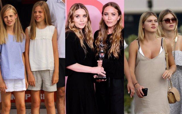Príncesa Leonor e Infanta Sofía, Mary Kate y Ashley Olsen y Victoria y Cristina Iglesias