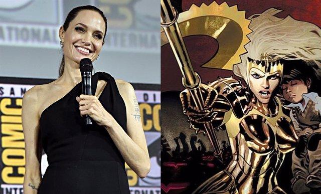 Angelna Jolie y Thena de Los Eternos