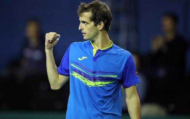 El tenista español Albert Ramos, en el Masters 1.000 de París.