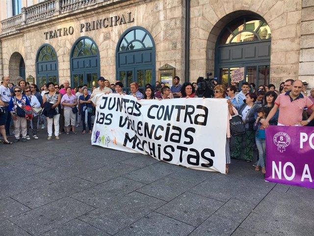 Concentración contra el crimen de Villagonzalo (Burgos):