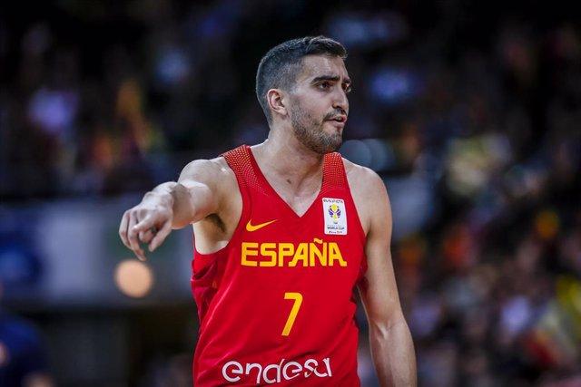 Jaime Fernández, jugando con la selección española de baloncesto