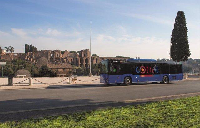 Autobus que Solaris (CAF) suministrará a Italia
