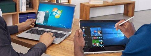 Windows 7 y Windows 10