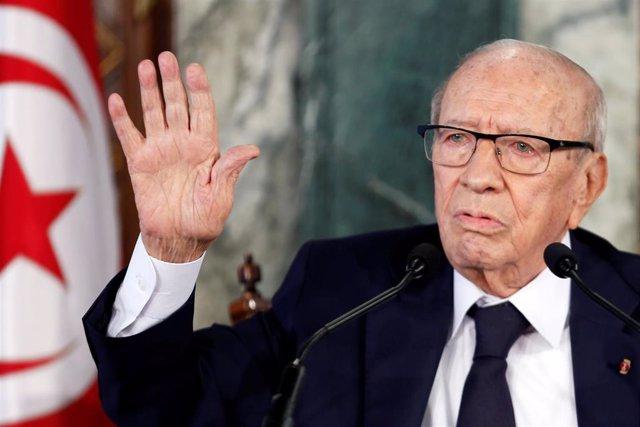 El presidente de Túnez, Beyi Caid Essebsi