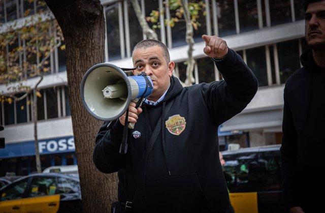 El portavoz de Élite Taxi Barcelona, Tito Álvarez, en una foto de archivo.