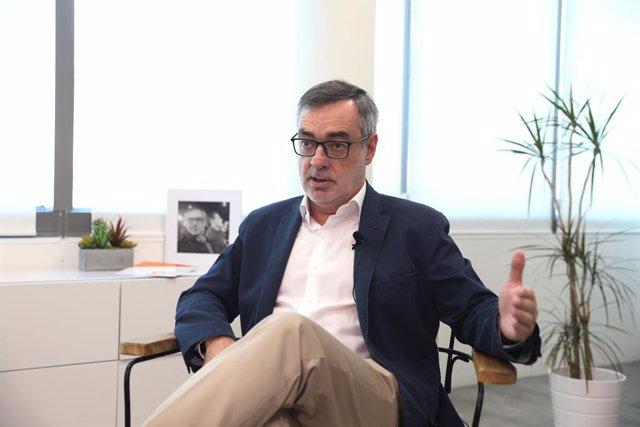 El secretari general de Ciudadanos, José Manuel Villegas, durant la seva entrevista per a Europa Press.