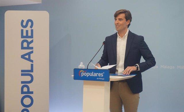 El sotssecretari de Comunicació del Partit Popular, Pablo Montesinos, a la seu del PP de Mlaga