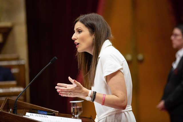 Lorena Roldán (Cs) Intervé En El Parlament De Catalunya
