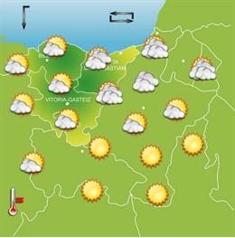 Previsiones meteorológicas para el 5 de agosto en Euskadi
