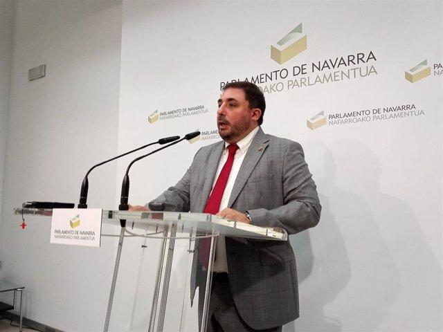 Unai Hualde, presidente del Parlamento de Navarra.