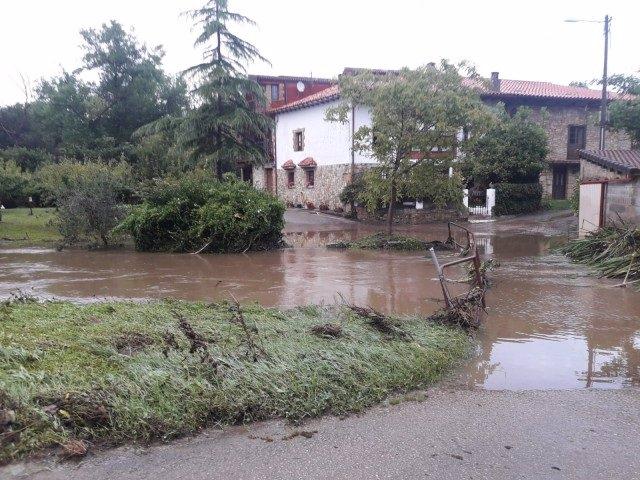 Desbordamiento del río Herrero