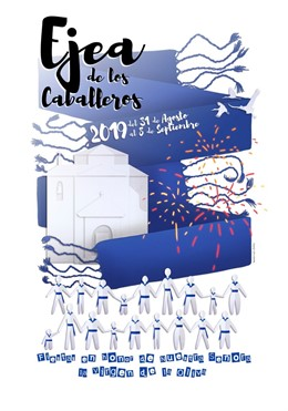 El cartel de las Fiestas de la Virgen de la Oliva de Ejea 2019 es obra de Laura Ruiz Chóliz.