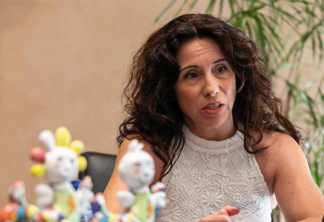 La consejera de Igualdad, Políticas Sociales y Conciliación, Rocío Ruiz, en una entrevista de Europa Pres