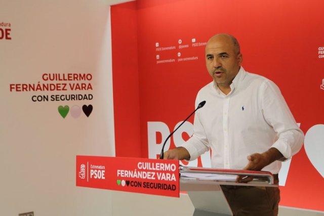 El secretario de Acción Electoral, Ideas y Programas del PSOE de Extremadura, Juan Ramón Ferreira