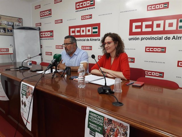 La secretaria de CCOO-A, Nuria López