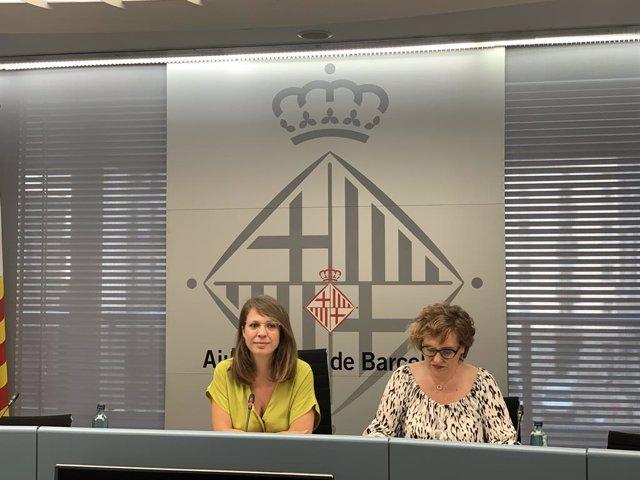 La Tinent Alcalde D'Urbanisme, Janet Sanz, AL COSTAT DE LA Regidora De Comerç, Montserrat Ballarin