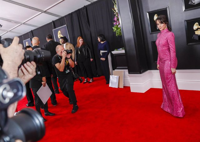 February 10, 2019 - Los Angeles, California, United States: Camila Cabello during the arrivals at the 61st GRAMMY Awards at STAPLES Center in Los Angeles, CA. Sunday, February 10, 2019. (Marcus Yam / Los Angeles Times/Contacto)