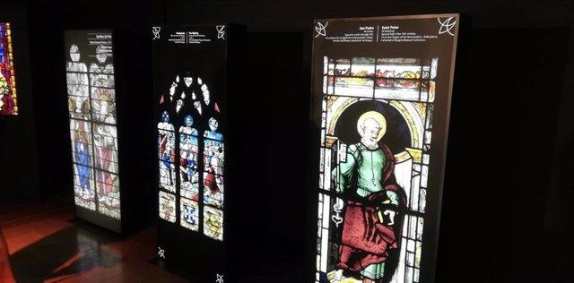 Centro de interpretación de las vidrieras de Burgos que han sido inauguradas hoy por el alcalde en funciones, David Jurado.