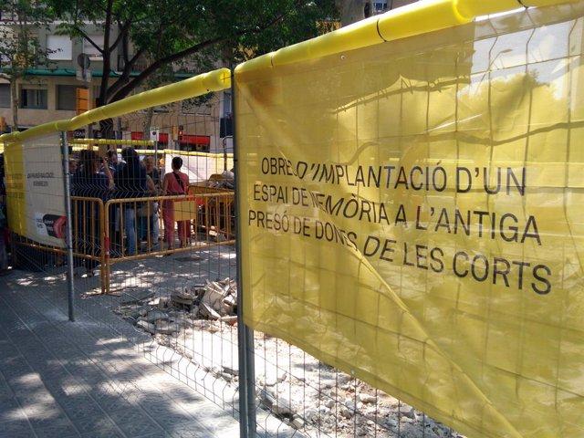 Obres del nou espai memorial de la Presó de Dons dels Corts