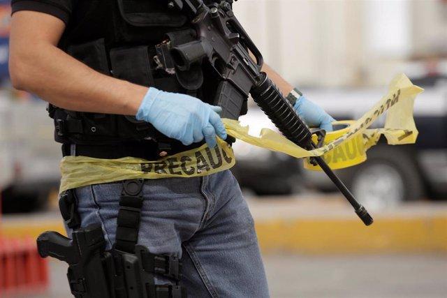 Agente de policía en Ciudad Juárez (México)