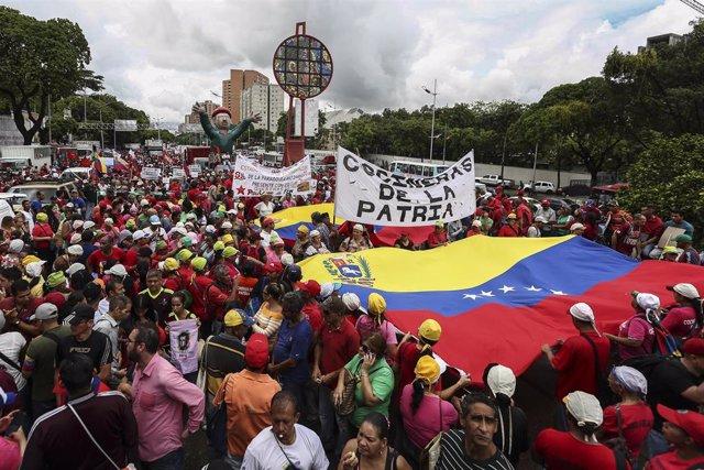 Manifestración contra el informe de la ONU en Caracas