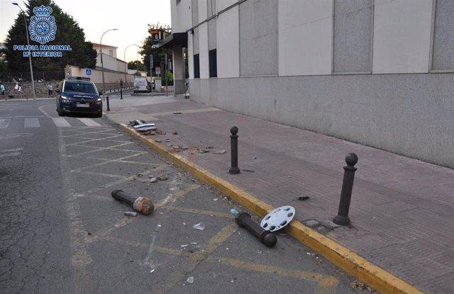 Daños provocados por el conductor ebrío en Ciudad Real