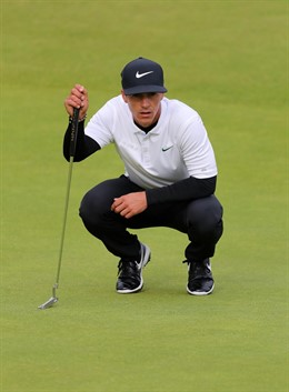 El golfista danés Thorbjorn Olesen durante el British 2019