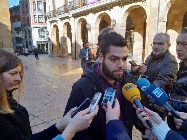 El concejal de Somos Oviedo, Rubén Rosón.