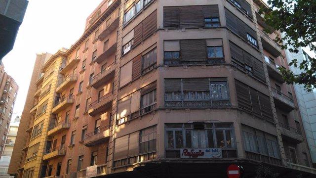 Edificio en la calle Lepanto de Murcia