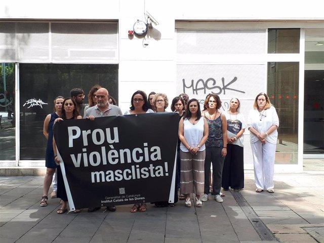 Minuto de silencio del Institut Català de les Dones