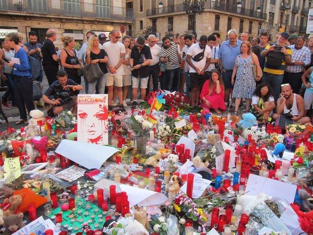 Homenatge a les víctimes de l'atemptat del 17 d'agost de 2017, foto d'Arxiu