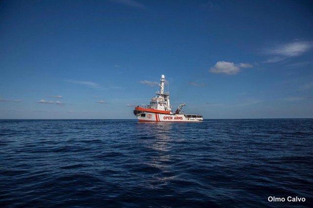El vaixell de l'ONG Proactiva Open Arms