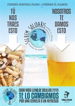 Cervesa o refresc a canvi d'un got ple de burilles en el quiosquet Tibu-Ron