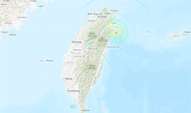 Registrado un terremoto de magnitud 6 en el norte de Taiwán