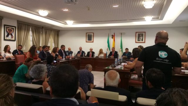 Pleno de investidura del Ayuntamiento de Mijas (Málaga)