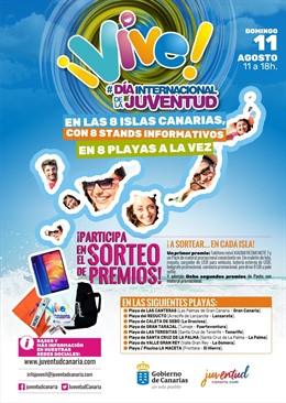 Cartel del Día Internacional de la Juventud