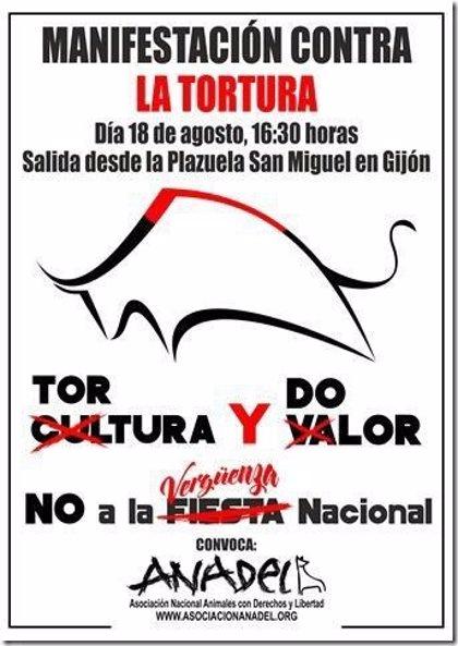 Colectivos antitaurinos se concentrarán el 18 de agosto contra las corridas de toros en Gijón