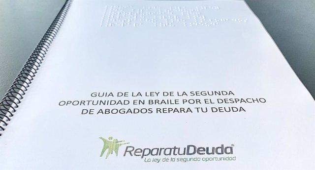Guia de la ley de la segunda oportunidad era Braille de Repara tu Deuda