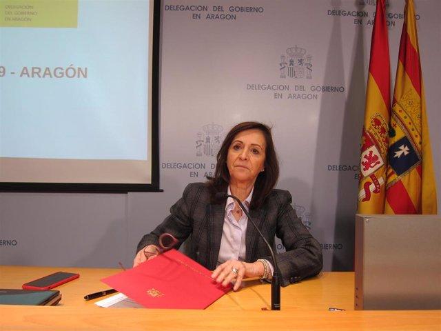 La delegada del Gobierno de España en Aragón, Carmen Sánchez.