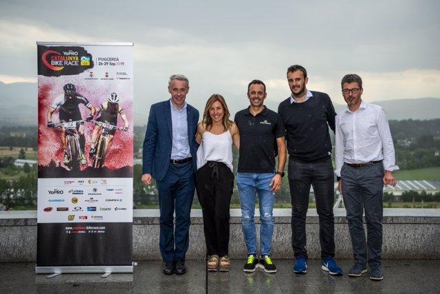 José Antonio Hermida en la presentación de la YoPRO Catalunya Bike Race