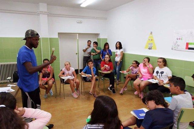 Alumnos de programa de inmersión lingüistica en ingles
