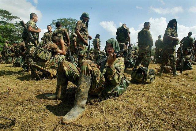 Paramilitares colombianos en Catatumbo.