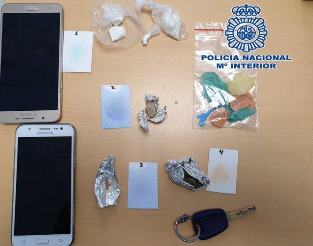 Material incautado tras una operación antidroga en Motril