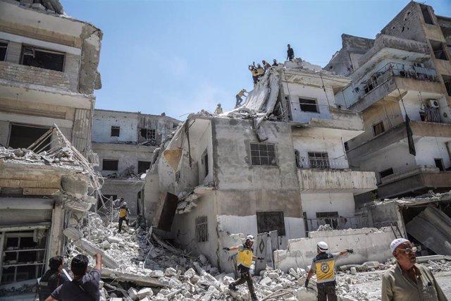 Ruinas en la provincia de Idlib