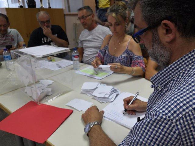Recuento de los votación de los trabajadores de Trablisa