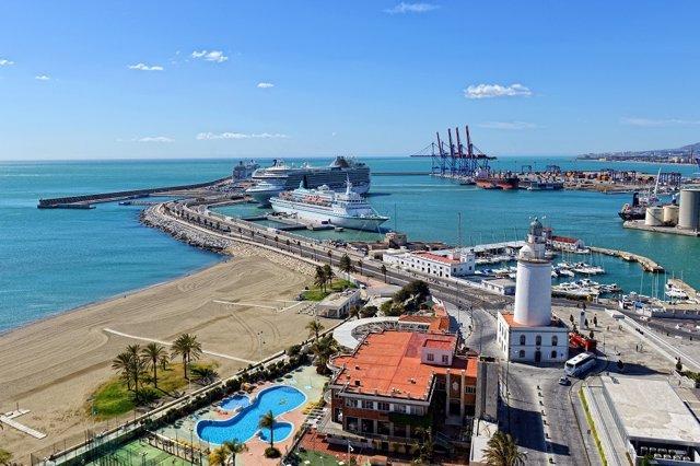 Crucero, cruceristas, puerto, Málaga