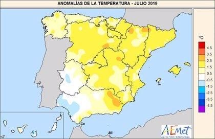 Julio fue un mes muy frío en Cádiz, con 23,7 grados de media, superior al de 2018 con 23,1, según la Aemet