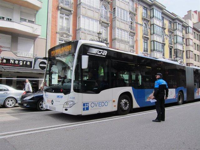 Autobús Oviedo, TUA, Policía Local.